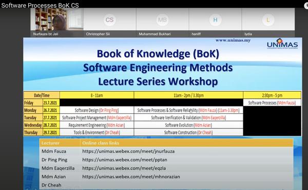 Online Workshops on Computer Science Body of Knowledge (CS BoK)