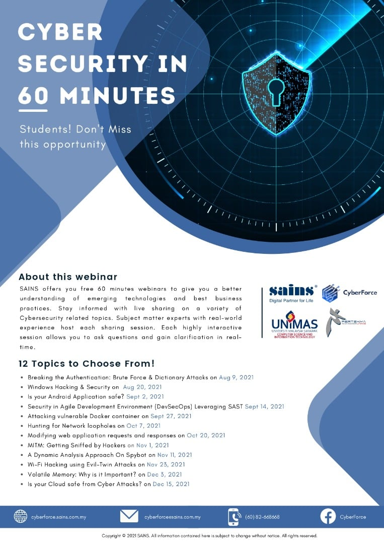 Cyber Security in 60 Minutes