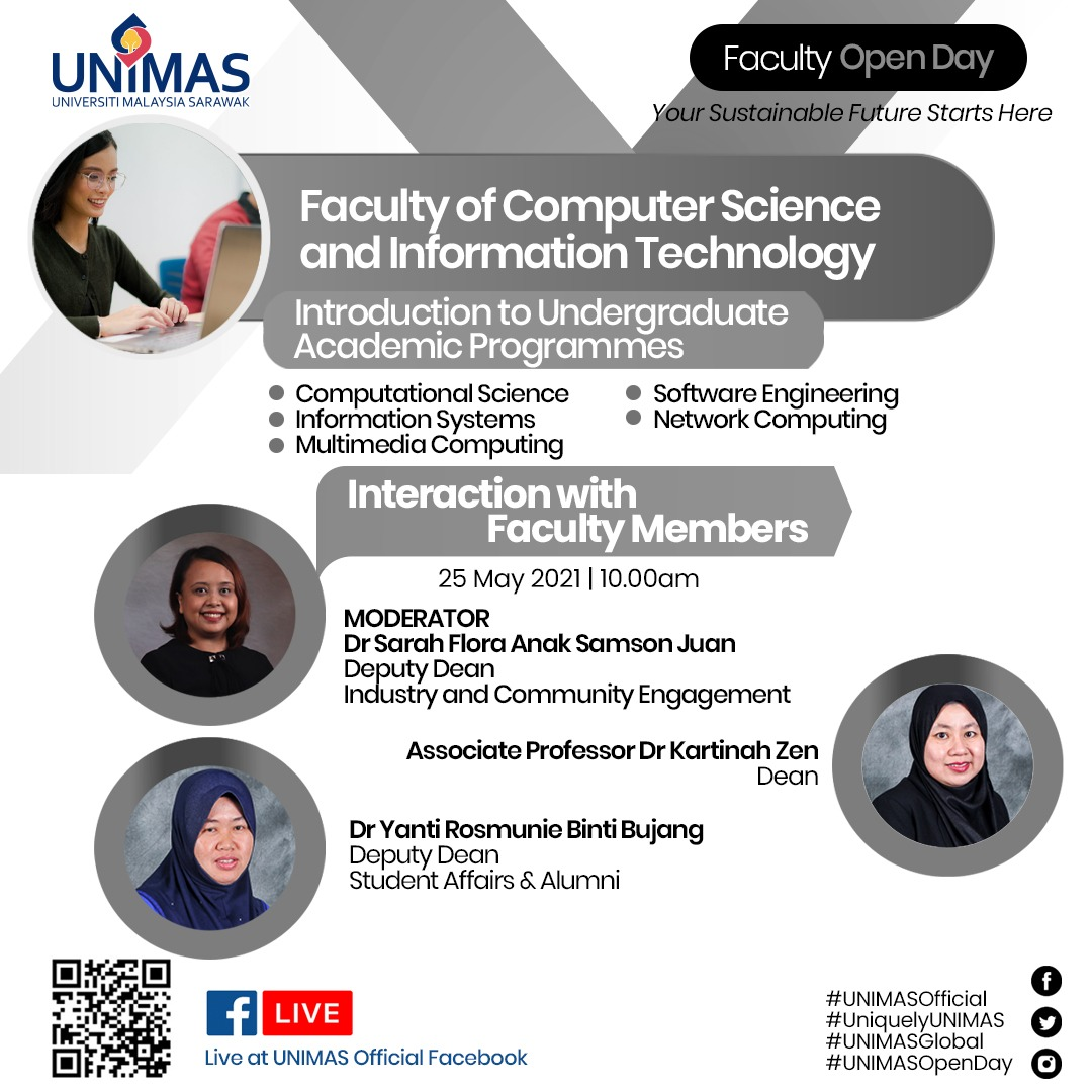 Faculty of Computer Science and Information Technology Virtual Open Day Live at UNIMAS Official Facebook